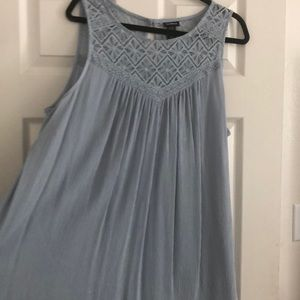 torrid Tops - Blue sleeveless blouse with design